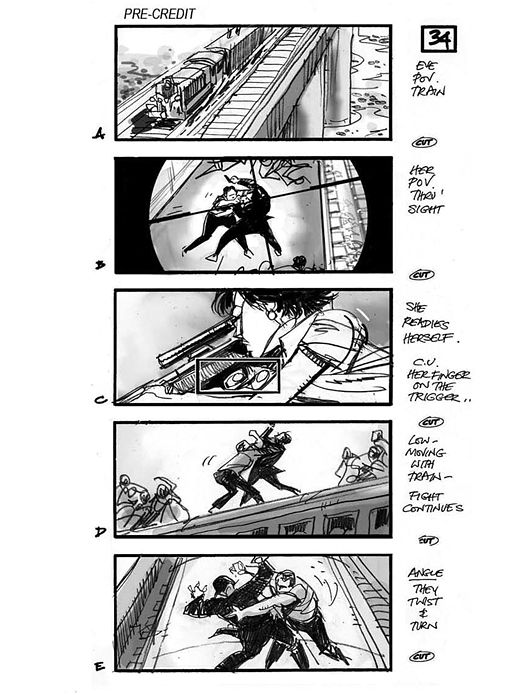 Skyfall Layout\/Animatic\/Storyboards Pinterest Skyfall - comic storyboards