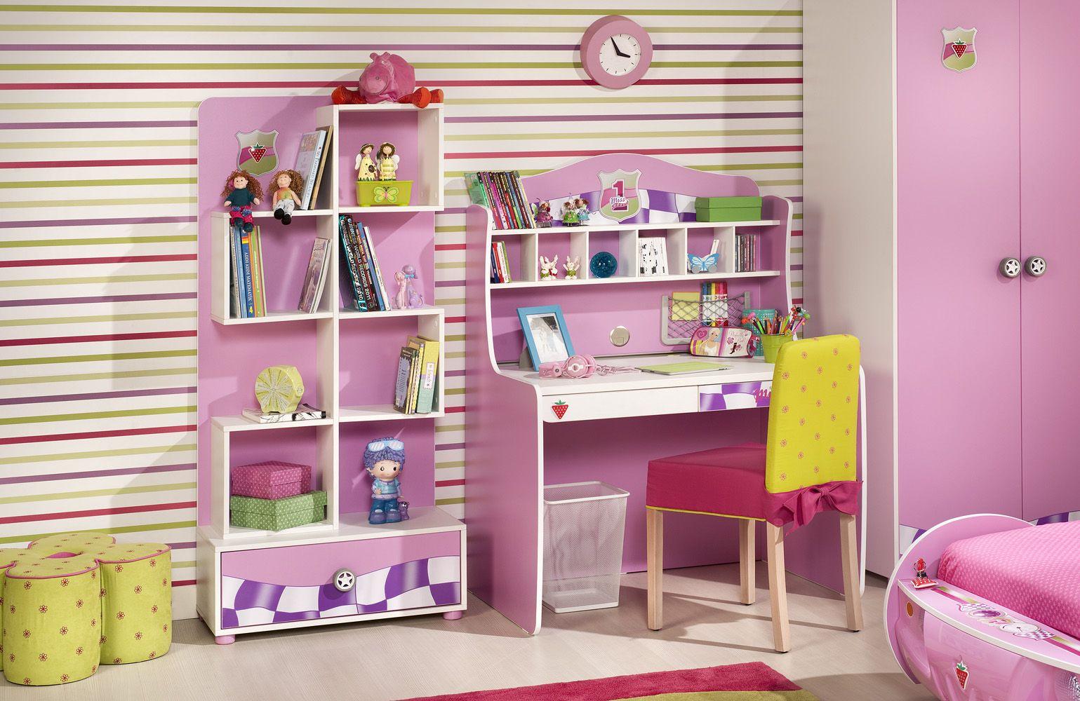 Escritorio habitacion ni a decoraci n dormitorios - Dormitorios infantiles nina ...