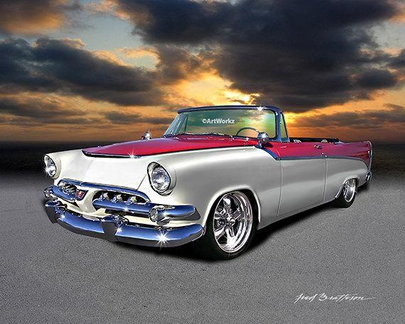 Muscle Car – 1956 Dodge D500 Custom – 426 Hemi – Hot Rod Art – Custom Car – Classic Car Ptint –  8×10 Giclee Print – 11×14 White Mat, AW54