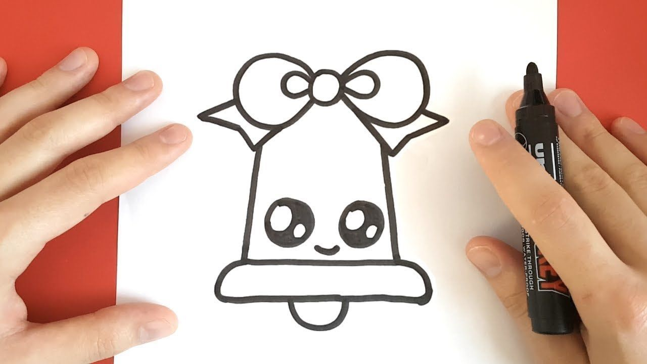 How To Draw A Christmas Bell Cute And Easy Youtube Easy