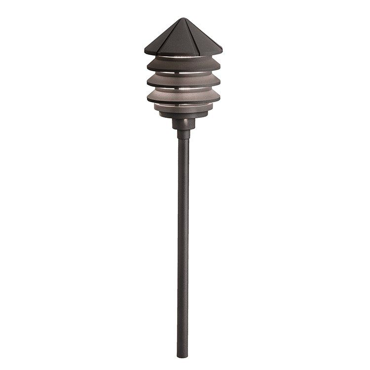 Six Groove Single Light Three Tier 120 Volt Path Landscape Light In 2020 Landscape Lighting Outdoor Path Lighting Bronze
