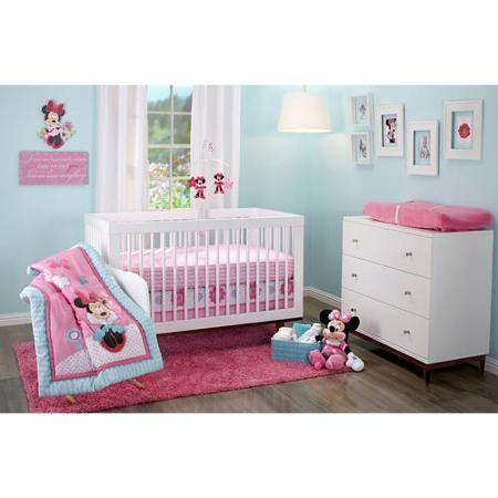 Disney Minnie Mouse Happy Day 3-Piece Crib Bedding Set baby oneday