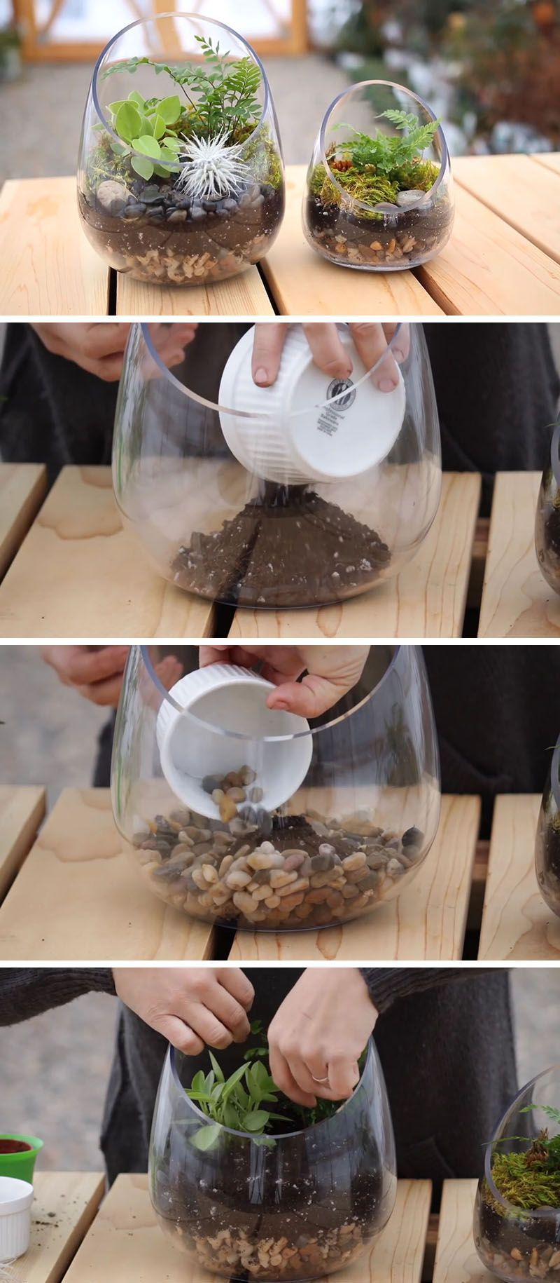 21 simple ideas for adorable diy terrariums planters rounding and
