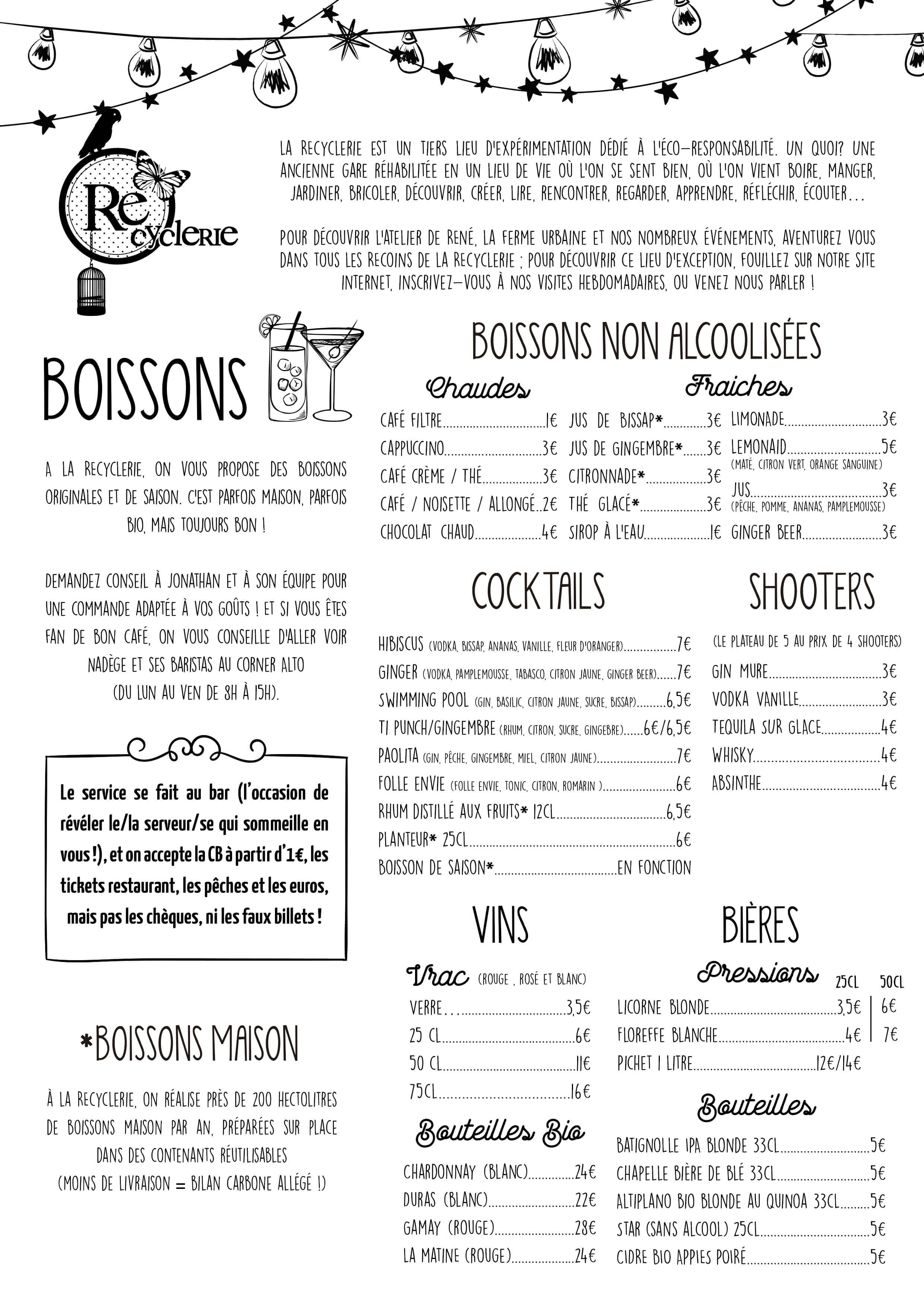 carte boisson bar exemple Épinglé sur carte bar resto