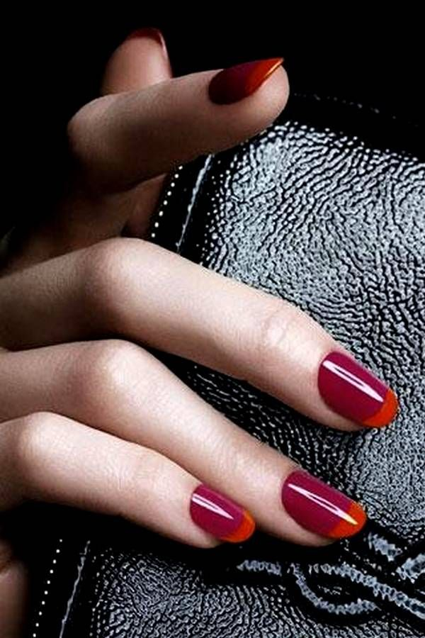 El nuevo french manicure | Manicure, Solid color nails and Color ...
