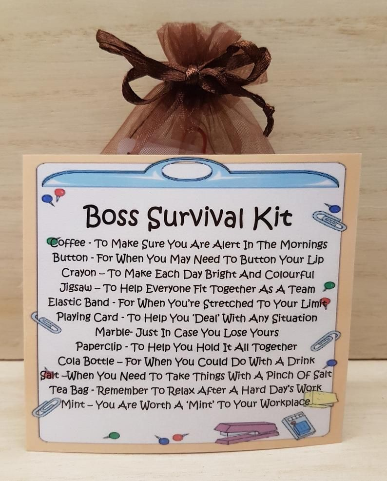 Manager Survival Kit Funny : manager, survival, funny, Survival, Novelty, Office, Present, Gifts,, Gifts, Boss,, Handmade