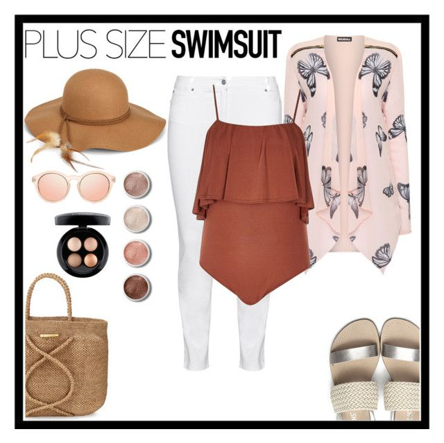 """Swimsuit"" by barbaraa-escalantee ❤ liked on Polyvore featuring Steilmann, WearAll, ViX, River Island, Steve Madden, Terre Mère, MAC Cosmetics, stylishcurves and plussizeswimsuit"