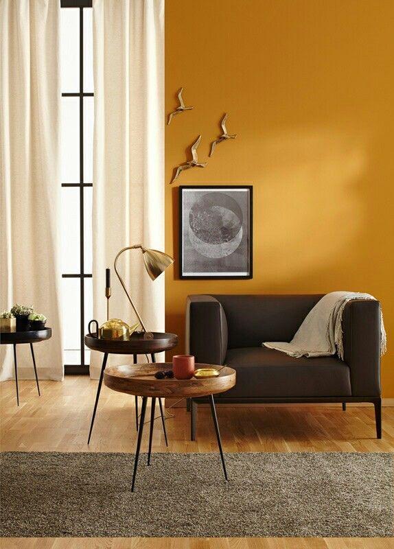 Okergeel, warm en gaaf!   woonkamer   Pinterest - Geel, Slaapkamer ...