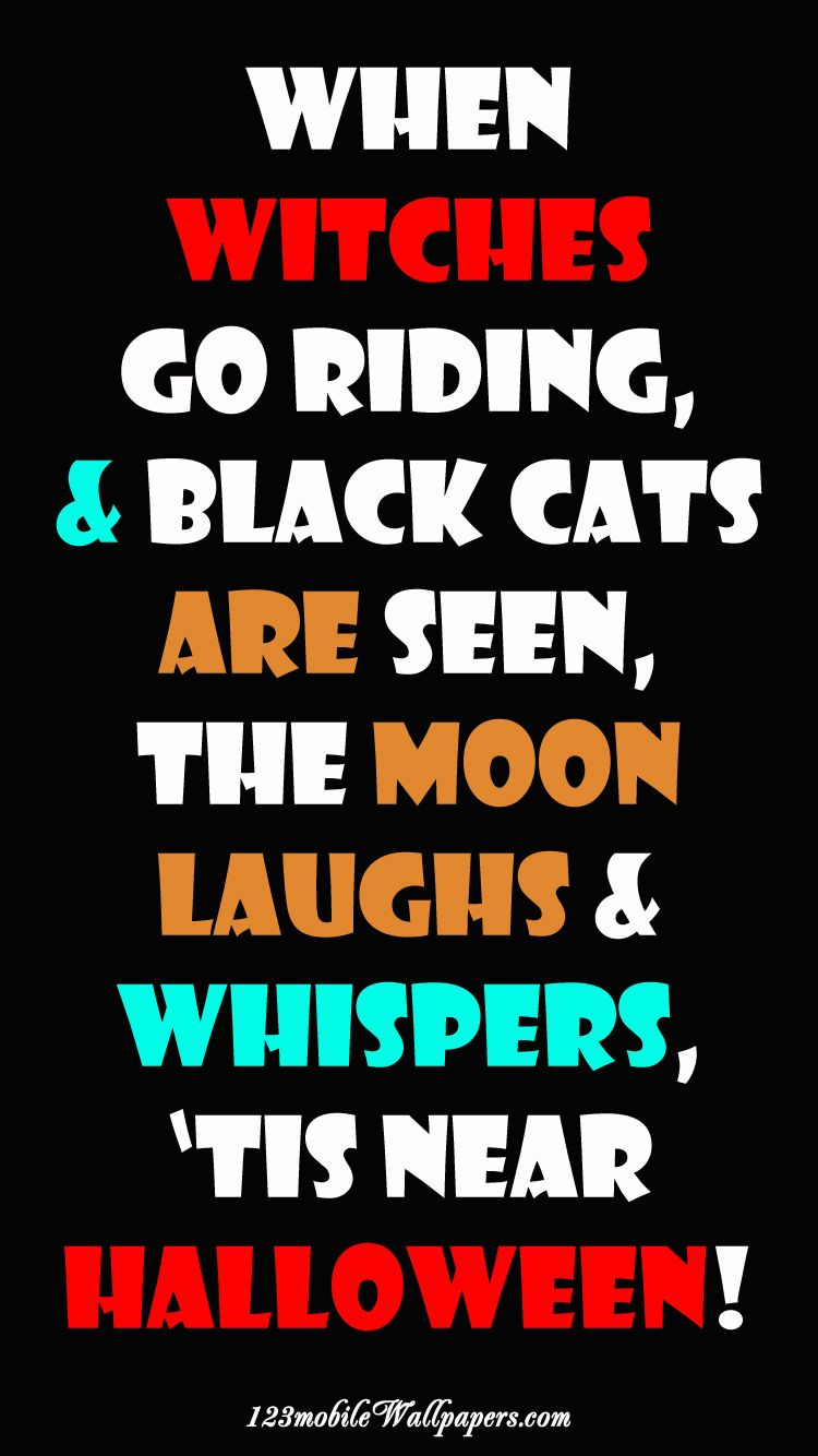 #Witches Go Riding #Halloween #Wallpaper
