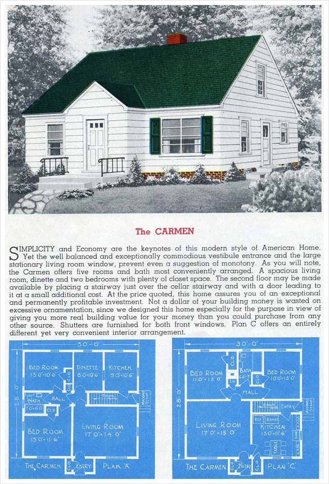 Post war Minimal Traditional based on the Cape Cod. The ...  Cape Cod House Plans on l shaped ranch house plans, original levittown house floor plans, 1945 house plans, cape cod cottage plans,
