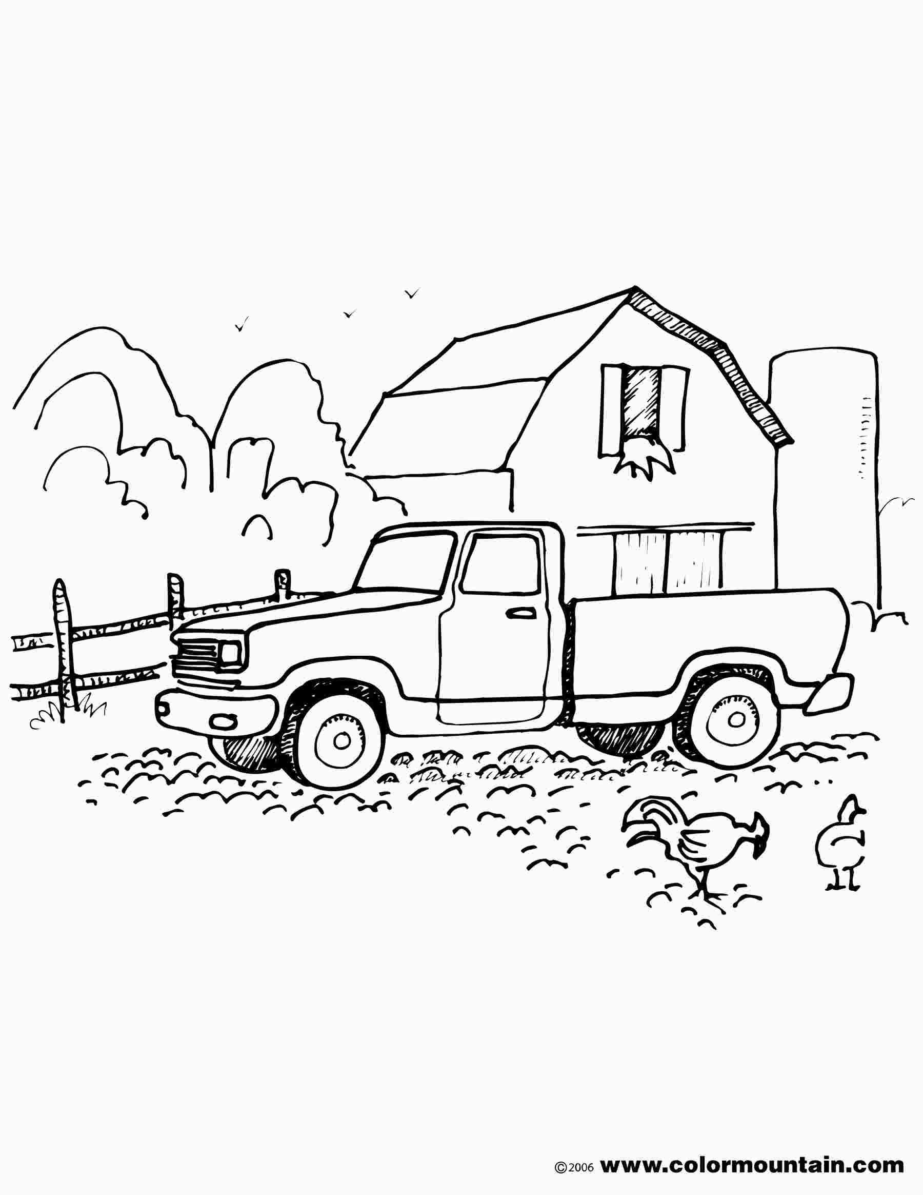 Farm Truck Coloring Pages Truck Coloring Pages Farm Trucks Old