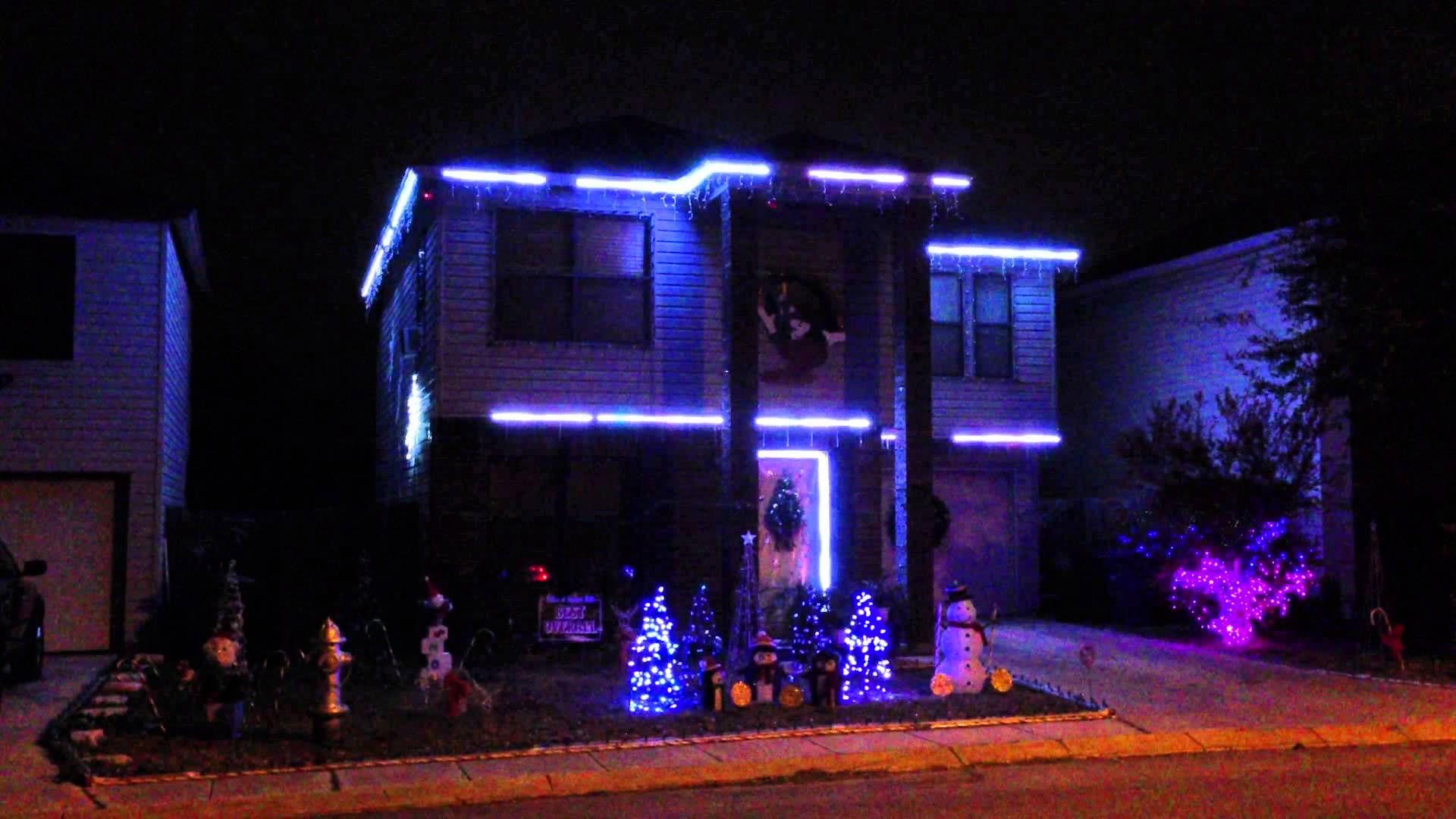 Crazy Christmas Lights San Antonio Gangnam Style