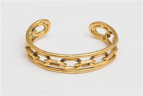 Jean Mahie Ronds 22K Gold Cuff Bracelet tCMGNIGc