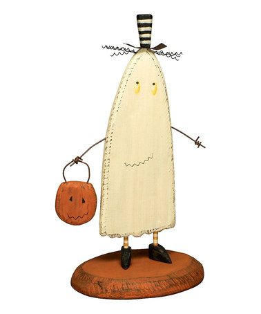 primitives by kathy wooden ghost figurine - Primitives By Kathy Halloween