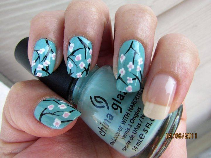 Japanese Cherry Blossoms - Nail Art Gallery | Tip2Toe | Pinterest ...