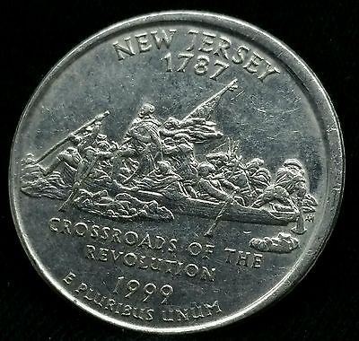 1999 D New Jersey Quarter 25 Cent Off Center Error Rare Nice Coin E305 Coins Coins Worth Money Valuable Coins