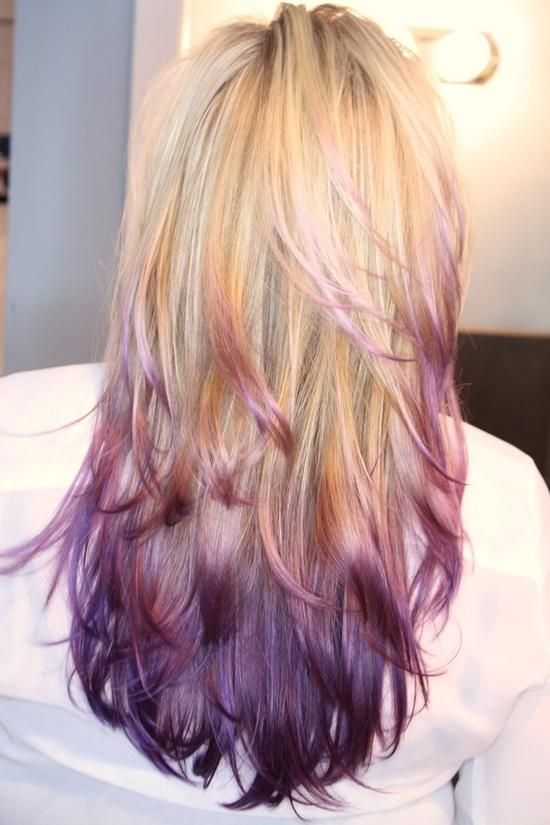 Love This Blonde And Purple Ombre Blonde Hair With Highlights