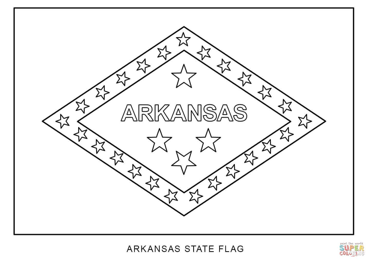 Flag Of Arkansas Super Coloring Flag Coloring Pages Coloring