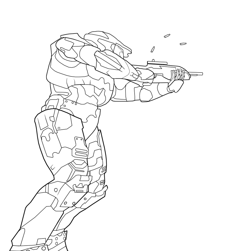 Coloring pages halo