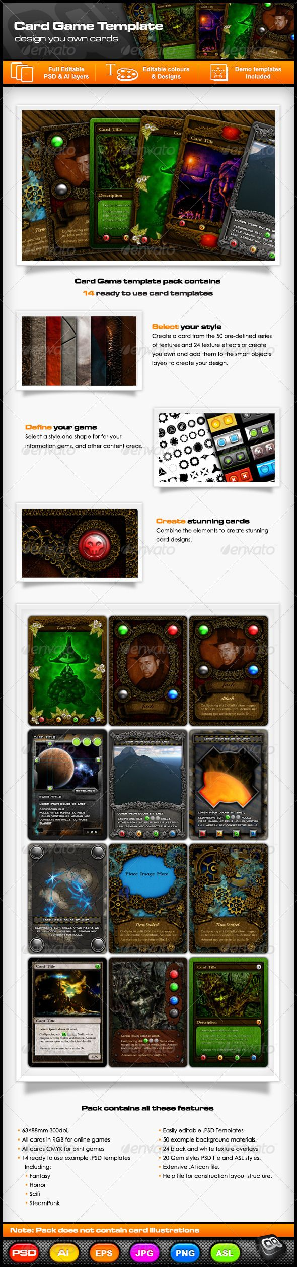 Collectable Card Game Template Pack Fun Card Games Collectible Card Games Card Games