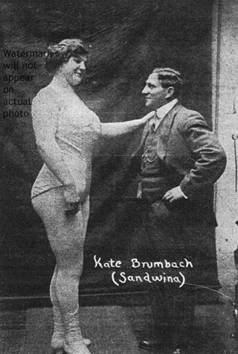 this is katie sandwina vintage strongwoman extraordinaire