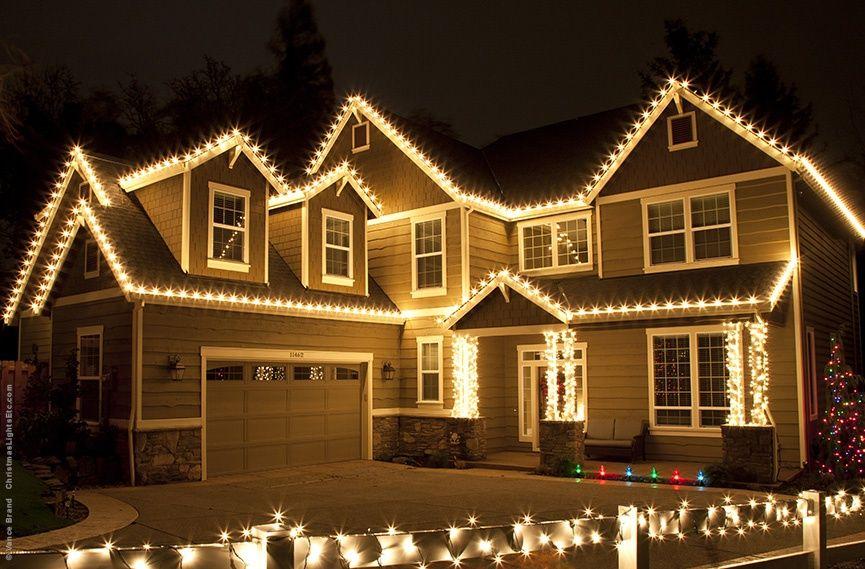 White Led Christmas Lights Led Christmas Lights Christmas Lights Outside Roof Christmas Lights