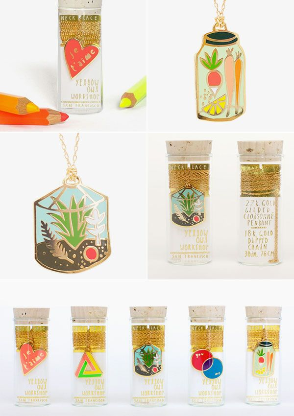 Pendants by yellow owl workshop necklace in cork jar packaging pendants by yellow owl workshop necklace in cork jar aloadofball