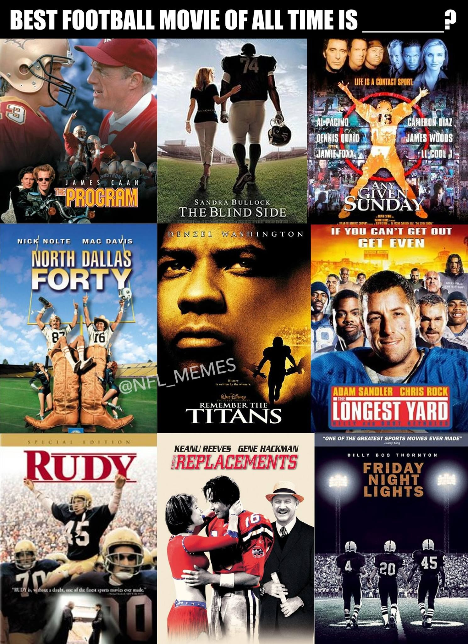 Best football movies of all time remember the titans the