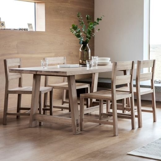 Waldorf Contemporary Dining Table Oak In 2019 Table Oak