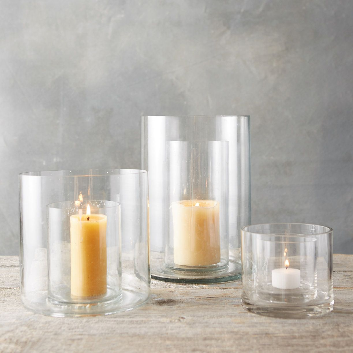 This Double Wall Hurricane Candle Holder Has Space Surrounding The Candle Column That Can Be Filled W Candle Holders Hurricane Candles Hurricane Candle Holders