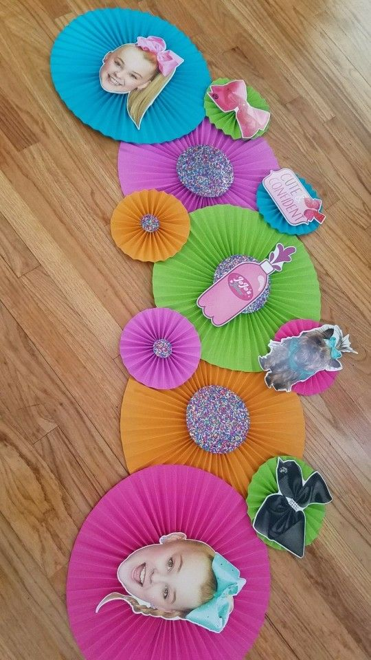 Diy Jojo Siwa Party Decoration I Made This For My Daughter She Is