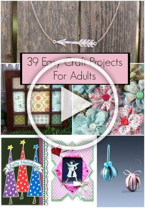 39 Easy Craft Projects For Adults | These easy DIY ideas are great for busy week...