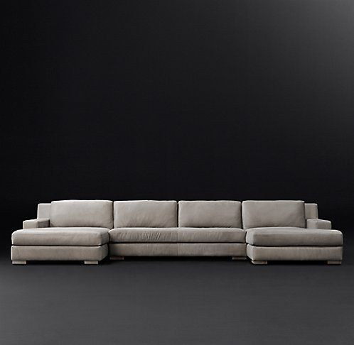 Best Modena Track Arm Leather Sectional Rh Modern Leather 400 x 300