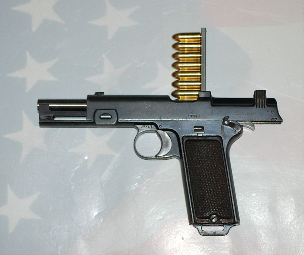 8 Round Clip. Loads From Above Downward