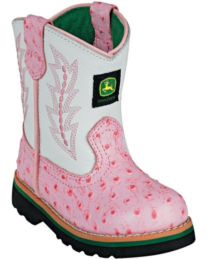 Infant Classic Pull On Boot Pink Ostrich Every Little