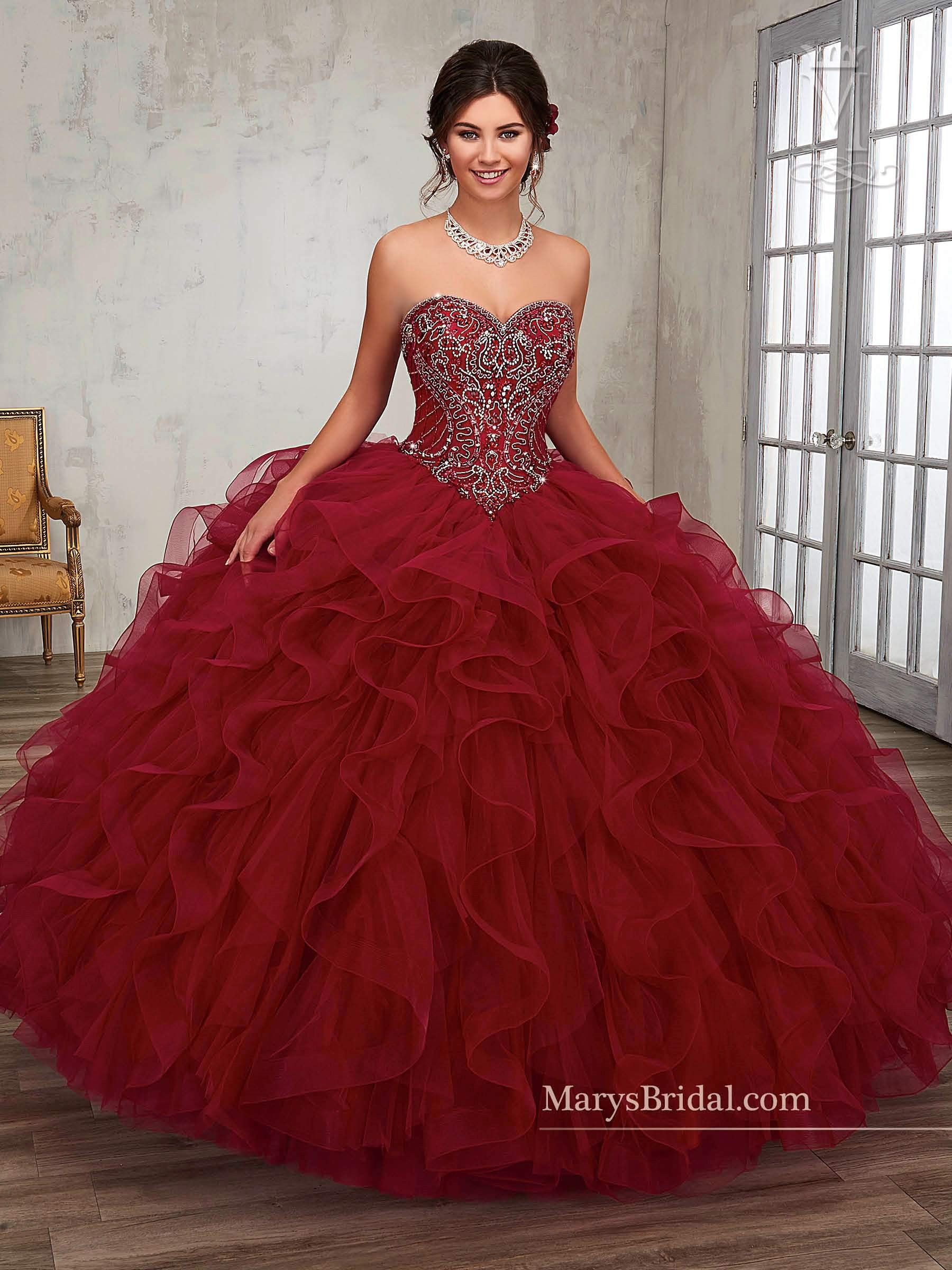 Strapless Ruffled Quinceanera Dress By Mary S Bridal Princess 4q506