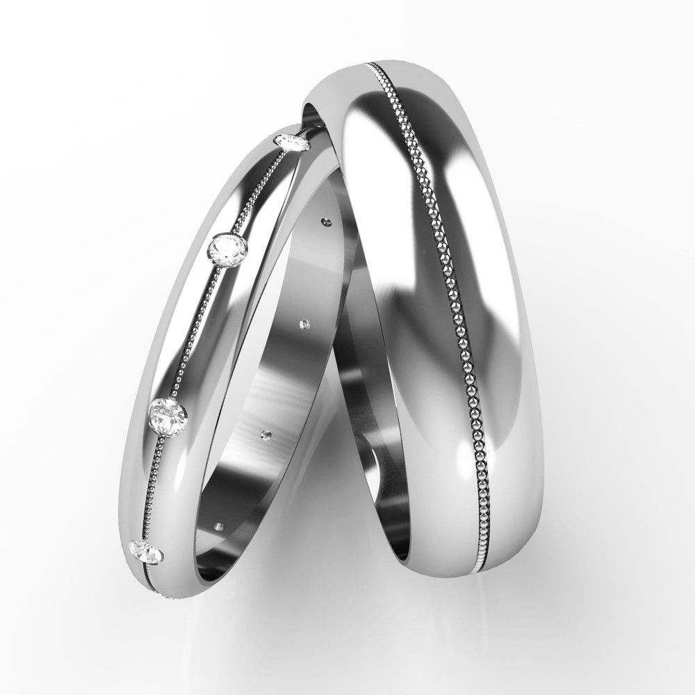 White Gold His And Hers Wedding Rings Ile Ilgili Görsel Sonucu