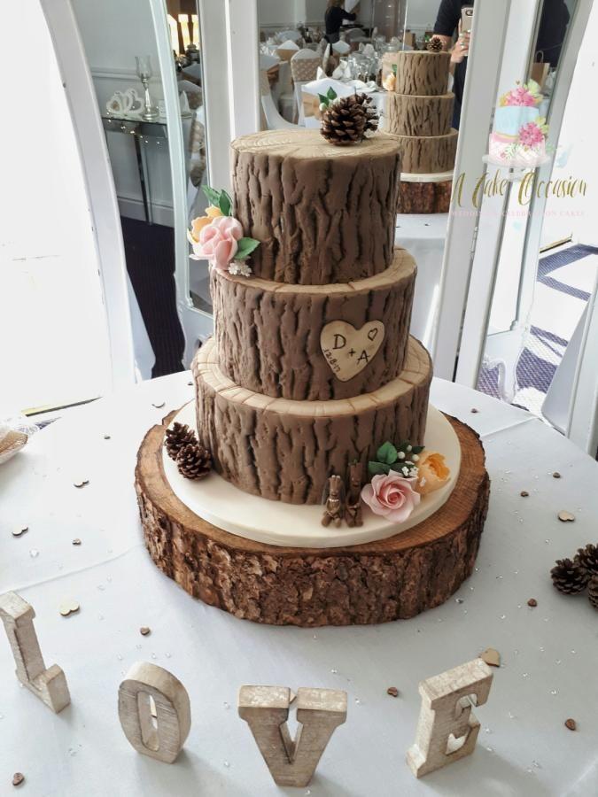 Tree stump wedding cake by A Cake Occasion - http://cakesdecor.com ...