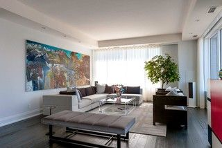 Yorkville Condo - contemporary - living room - toronto - by ...