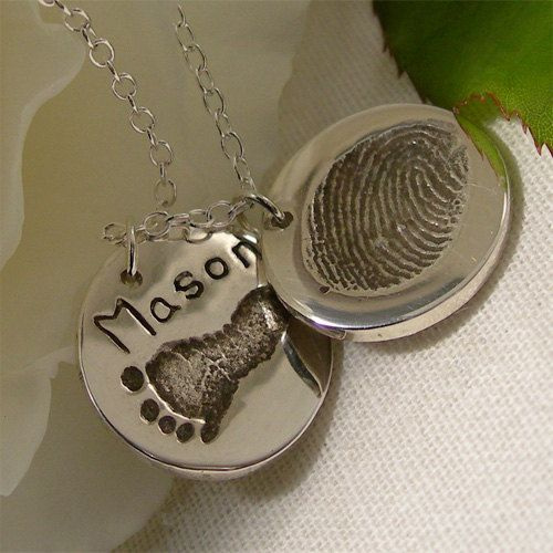 large xlarge sterling footprint custom footprints xl extra child round products silver actual pendant my handprint jewelry necklace forever
