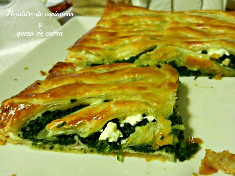 Hojaldre De Espinacas Y Queso De Cabra Recetas Con Hojaldre Empanada De Espinacas Pastel De Espinaca
