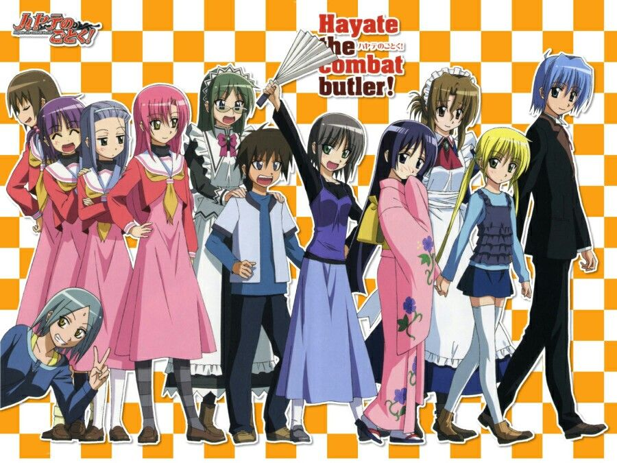Hayate no gotoku Manga, Anime, Manga anime