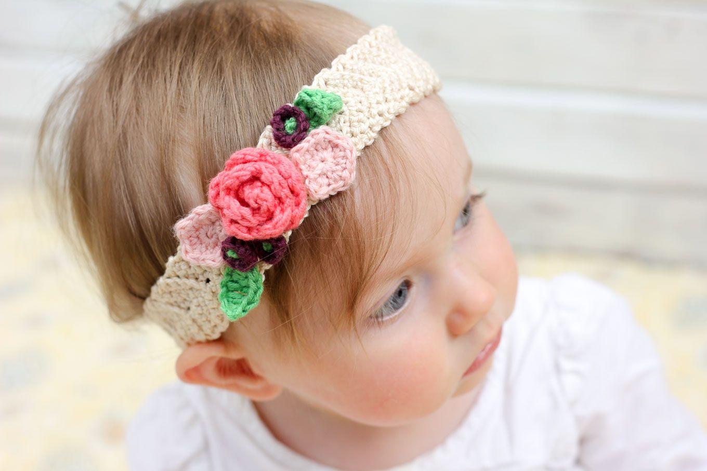 Free Crochet Flower Headband Pattern (Baby, Toddler, Adult ...