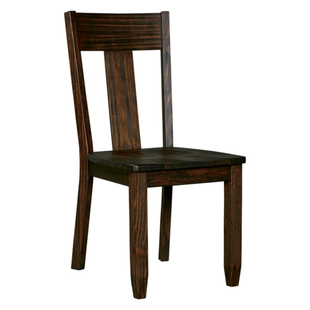 Set of 2 Trudell Dining Room Side Chair Dark Brown - Signature Design by Ashley images