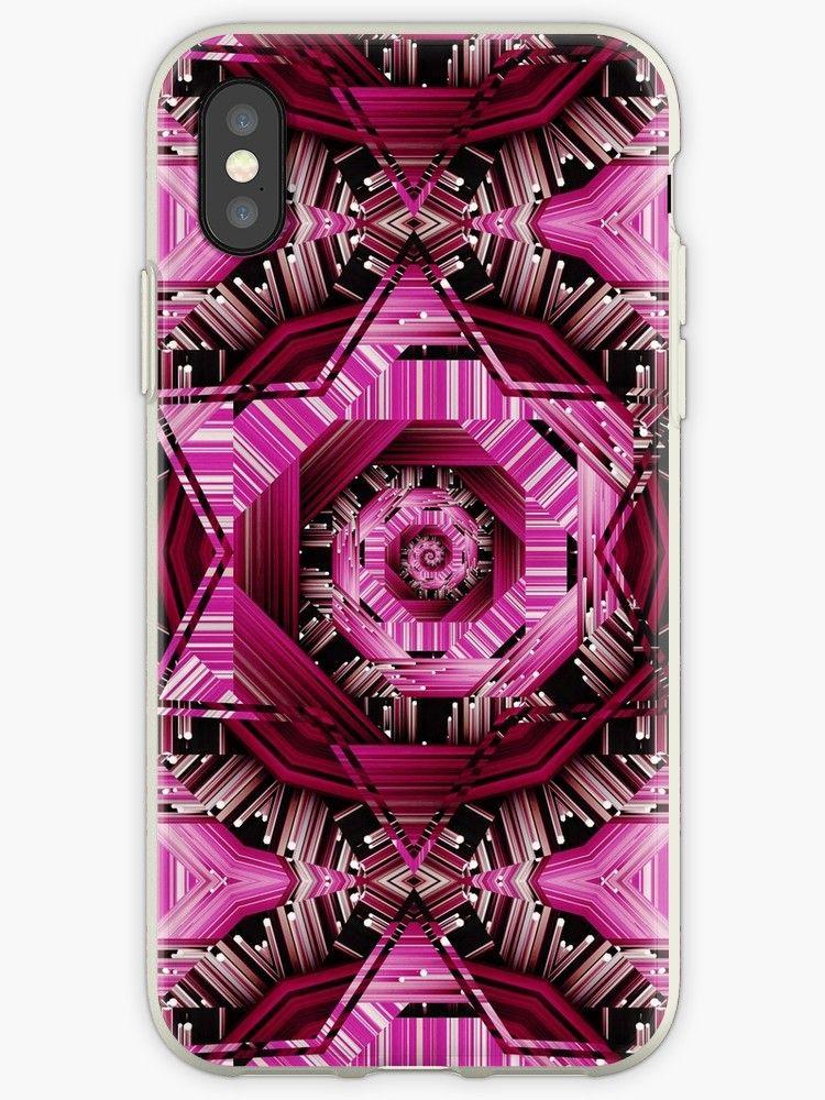 Pink spiral quantum mechanics iphone 12 soft by