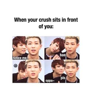 I Dont Understand Because My Crush Half A Country And An Ocean Away From Me Therefore He Never Sits In Front Of Bts Memes Hilarious Bts Memes Bts Bangtan Boy