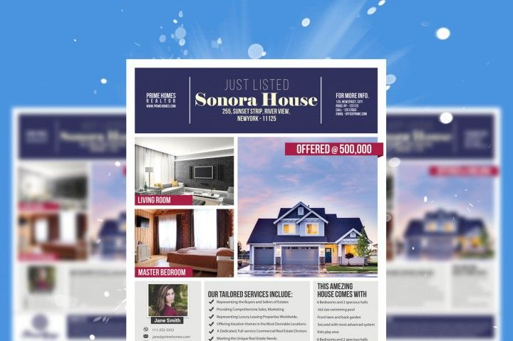 Real Estate advertising Flyer Template - Advertising Marketing ...