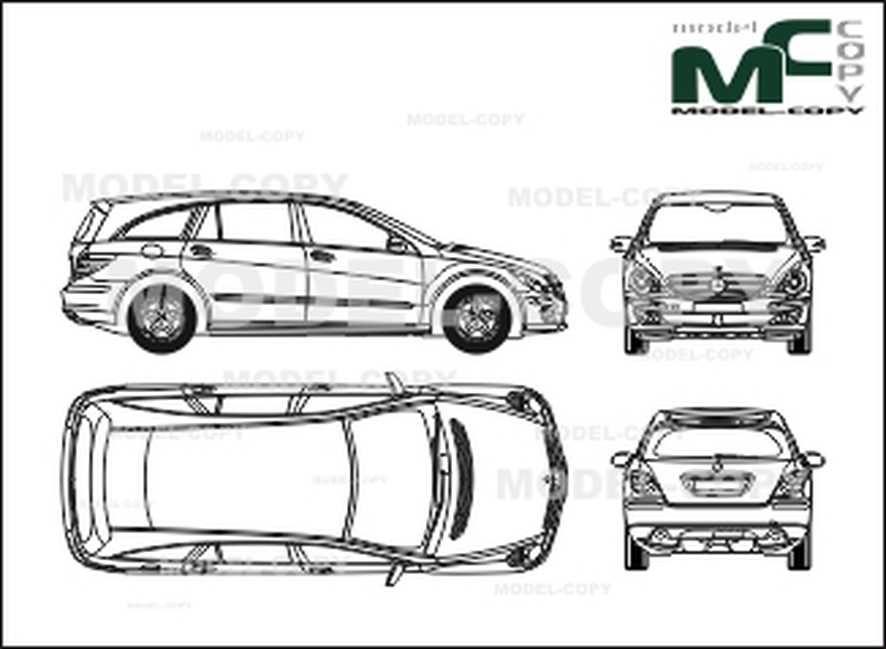 Mercedes-Benz R-class with a long wheelbase (2005