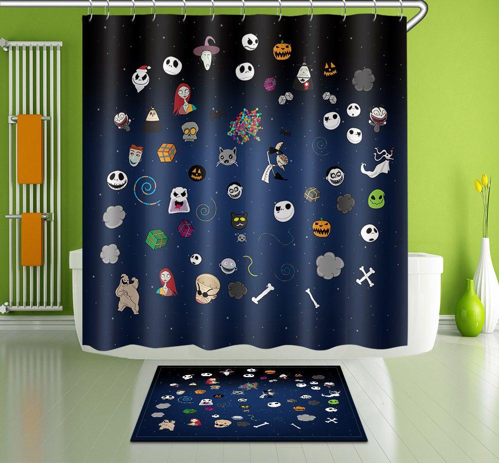 Star Monster Bathroom Decor Shower Curtain 100 Polyester 12