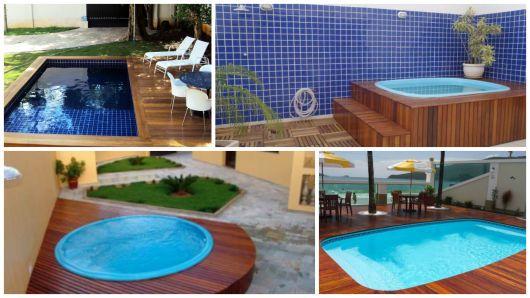 Modelos com deck de madeira churrasqueira e piscina pinterest piscina pequena piscina - Modelos de piscinas pequenas ...
